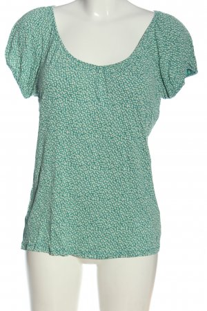 Esprit T-Shirt türkis-weiß abstraktes Muster Casual-Look