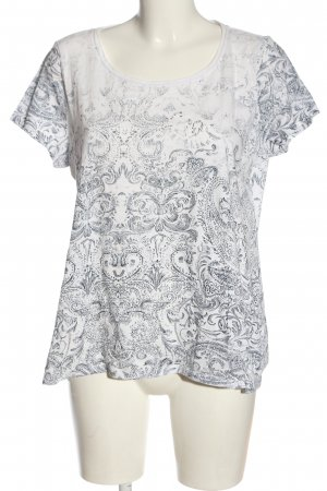 Esprit T-Shirt hellgrau-weiß abstraktes Muster Casual-Look