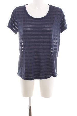 Esprit T-Shirt blau Streifenmuster Casual-Look