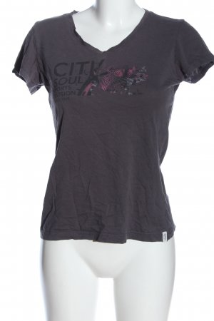 Esprit T-Shirt hellgrau Motivdruck Casual-Look