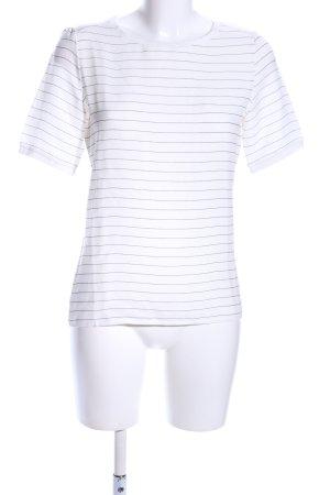 Esprit T-Shirt weiß-hellgrau Streifenmuster Casual-Look