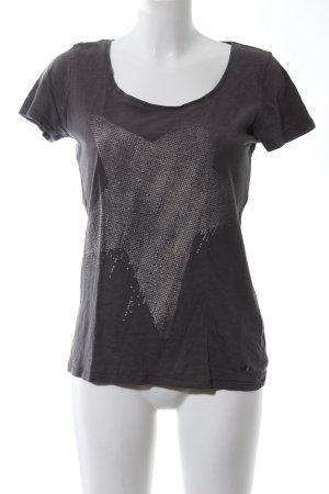 Esprit T-Shirt braun Motivdruck Casual-Look