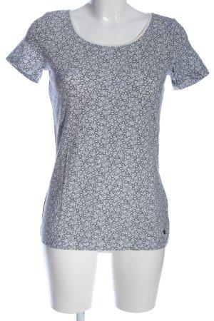 Esprit T-Shirt hellgrau-schwarz Allover-Druck Casual-Look