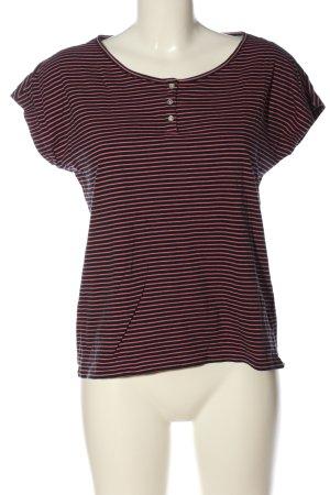 Esprit T-Shirt pink-schwarz Streifenmuster Casual-Look