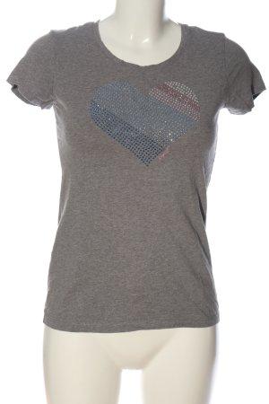 Esprit T-Shirt hellgrau meliert Casual-Look