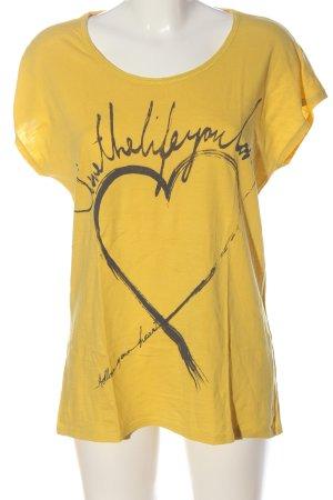 Esprit Camiseta amarillo pálido-gris claro estampado temático look casual