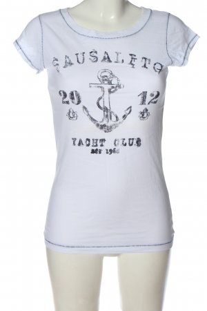 Esprit T-Shirt weiß-schwarz Motivdruck Casual-Look