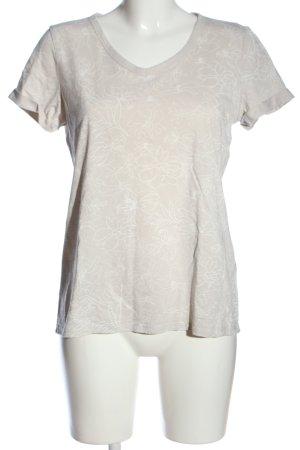 Esprit T-Shirt creme-weiß Blumenmuster Casual-Look