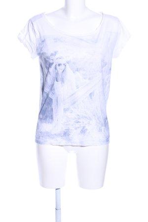 Esprit T-Shirt blau Motivdruck Casual-Look