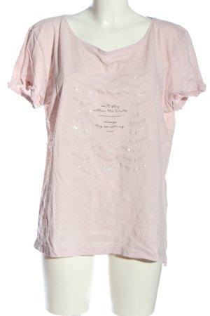 Esprit T-Shirt hellgrau-schwarz Schriftzug gedruckt Casual-Look