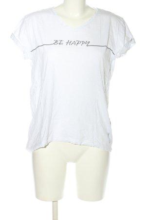 Esprit T-Shirt weiß-schwarz Schriftzug gedruckt Casual-Look