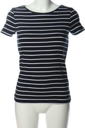Esprit T-Shirt schwarz-weiß Allover-Druck Casual-Look