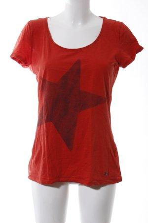 Esprit T-Shirt rot Motivdruck Casual-Look