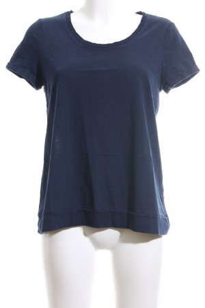 Esprit T-Shirt blau grafisches Muster Casual-Look