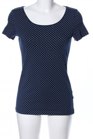 Esprit T-Shirt blau-weiß Allover-Druck Casual-Look