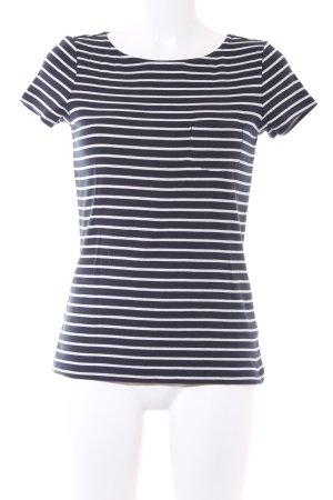 Esprit T-Shirt dunkelblau-wollweiß Streifenmuster Casual-Look