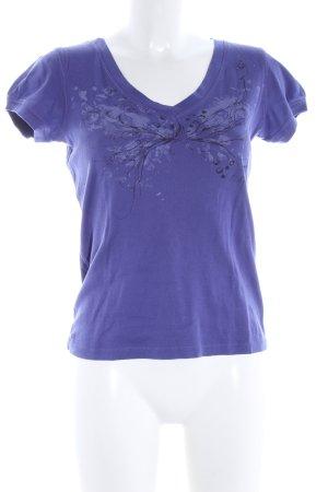 Esprit T-Shirt lila abstraktes Muster Casual-Look