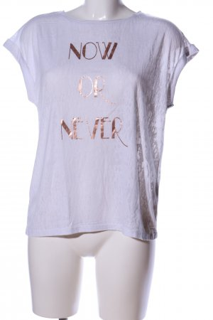 Esprit T-Shirt weiß-braun meliert Casual-Look