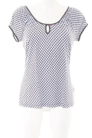 Esprit T-Shirt weiß-hellgrau Punktemuster Casual-Look