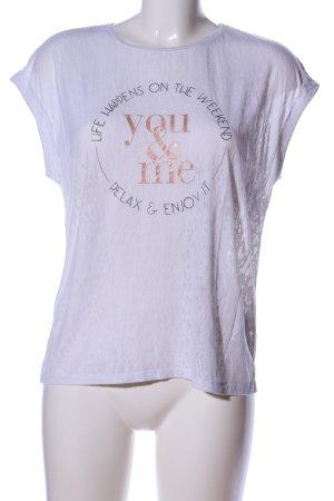 Esprit T-Shirt weiß Schriftzug gedruckt Casual-Look