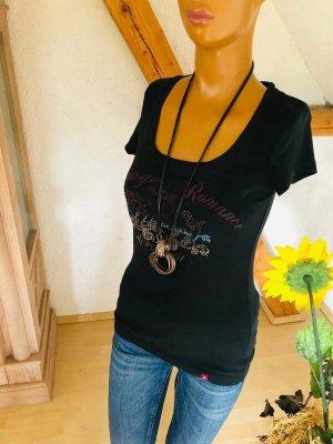 Esprit T-shirt Gr M mit Glitzer