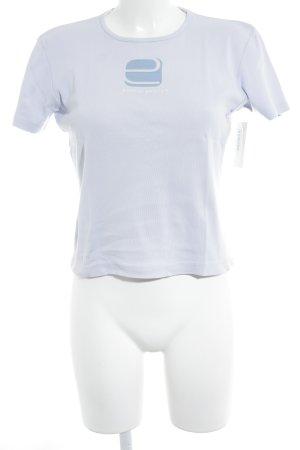 Esprit T-Shirt grauviolett Schriftzug gedruckt Casual-Look