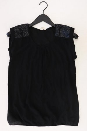 Esprit T-Shirt Größe M Kurzarm mit Pailletten schwarz