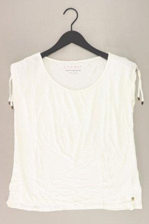 Esprit T-Shirt Größe S Kurzarm creme aus Viskose