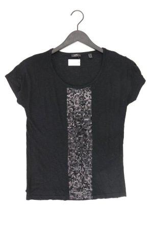 Esprit T-Shirt Größe S Kurzarm mit Pailletten schwarz aus Viskose