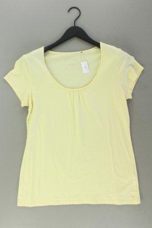 Esprit T-Shirt Größe XL Kurzarm gelb aus Baumwolle
