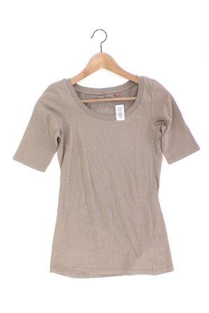 Esprit T-Shirt Größe XS Kurzarm braun aus Baumwolle