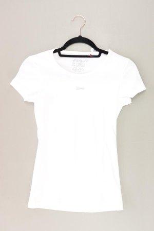 Esprit T-Shirt Größe XXS Kurzarm weiß aus Baumwolle