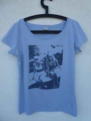 Esprit – T-Shirt, hellblau mit Aufdruck – Gebraucht