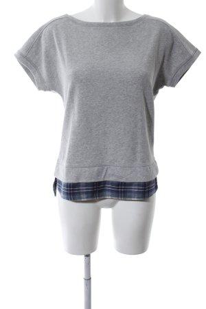 Esprit T-Shirt hellgrau-blau Karomuster Casual-Look