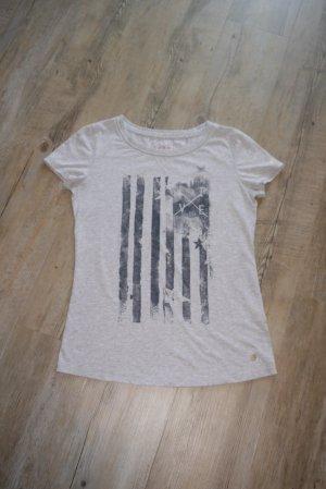 Esprit T-Shirt hellgrau grau Motiv M
