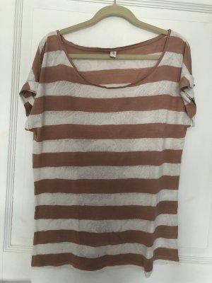 Esprit T-Shirt koralle / weiß Streifen Gr. M