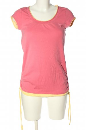 Esprit T-Shirt pink-blassgelb Casual-Look