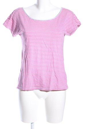 Esprit T-Shirt pink-hellgrau Allover-Druck Casual-Look