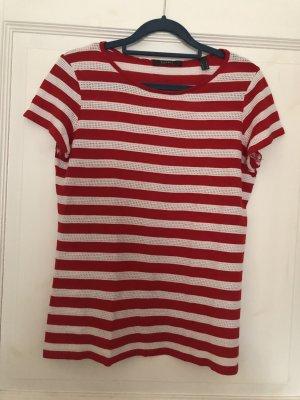 Esprit T-Shirt rot / weiß Gr. L
