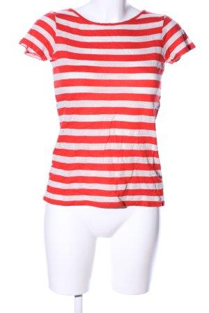 Esprit T-Shirt rot-wollweiß Streifenmuster Casual-Look