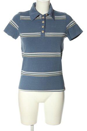 Esprit T-Shirt blau-wollweiß Streifenmuster Casual-Look