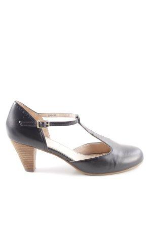 Esprit Zapatos de tacón con barra en T negro look casual