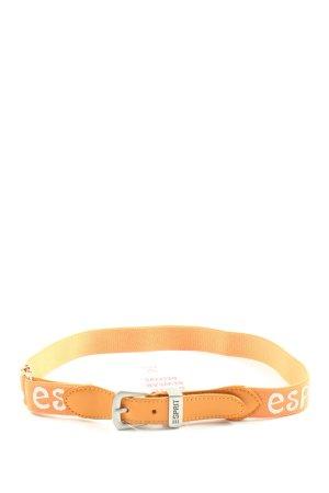 Esprit Cinturón pélvico naranja claro estampado temático look casual