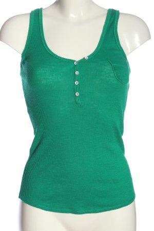 Esprit Tanktop grün Zopfmuster Casual-Look