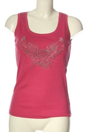 Esprit Tanktop pink Motivdruck Casual-Look