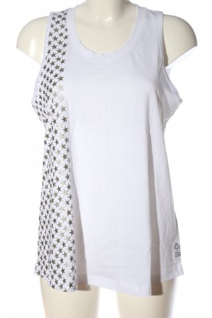 Esprit Tanktop weiß-silberfarben Motivdruck Casual-Look
