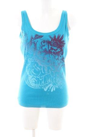 Esprit Tanktop blau Motivdruck Casual-Look