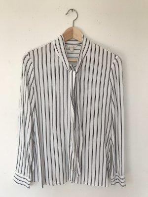 Esprit Blouse avec noeuds blanc-noir