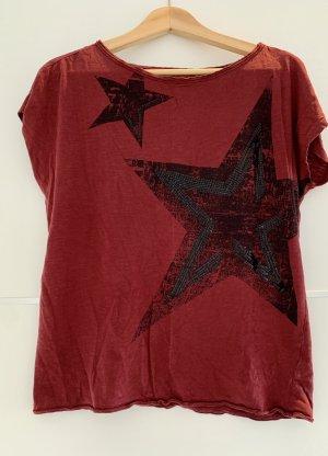 Esprit Boatneck Shirt black-bordeaux
