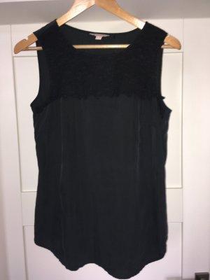 Esprit Glanzende blouse zwart
